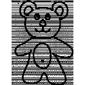 Bear Doodle Template 01