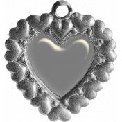 Layered Glass Heart Charm Template