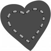 Layered Stitched Heart Template 01