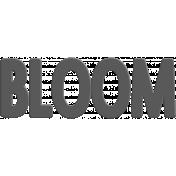Bloom Word Art