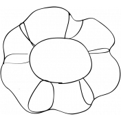 Flower Doodle Template 04