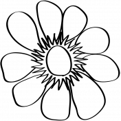 Flower Doodle Template 06