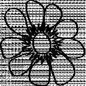 Flower Doodle Template 06