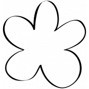 Flower Doodle Template 08
