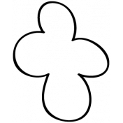 Flower Doodle Template 09
