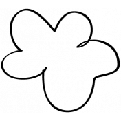 Flower Doodle Template 10