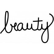 Beauty Doodle Template
