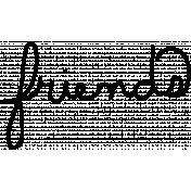 Friends Doodle Template