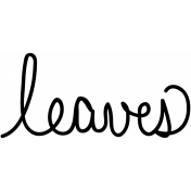 Leaves Doodle Template