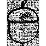 Acorn Doodle Template 01
