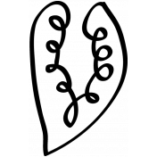 Leaf Clip Doodle Template