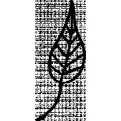 Leaf Doodle Template 4