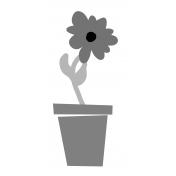Flower Pot 01 Template