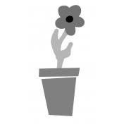 Flower Pot 02 Template