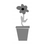 Flower Pot 03 Template