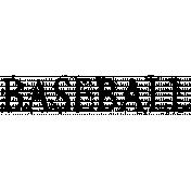Baseball Word Art