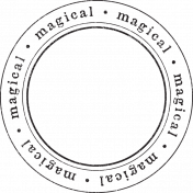 Enchanted- Magical Circle Stamp