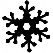 Snowflake Template 002