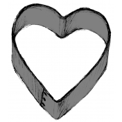 Cookie Cutter Heart Template