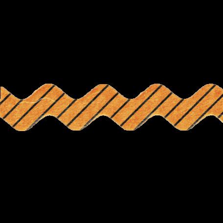 No Tricks, Just Treats - Orange and Black Striped Ribbon