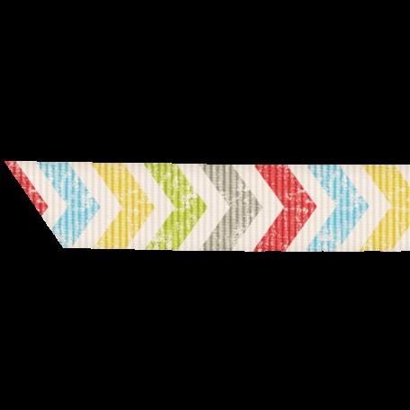Lil Monster - Colorful Chevron Ribbon
