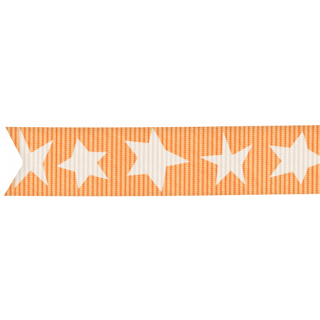 Lil Monster - Orange Ribbon With Stars