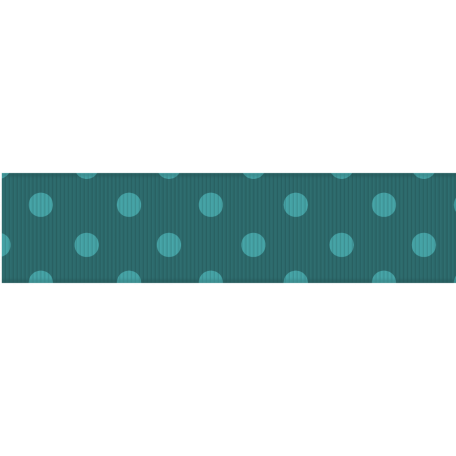 Fat Ribbon - Polka Dots 03 - Teal