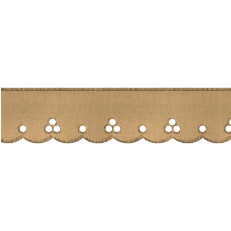 Scalloped Lace Ribbon - Tan