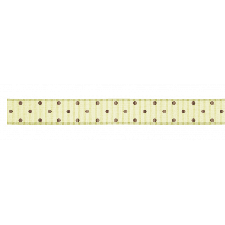 Polka Dot Ribbon - Tan