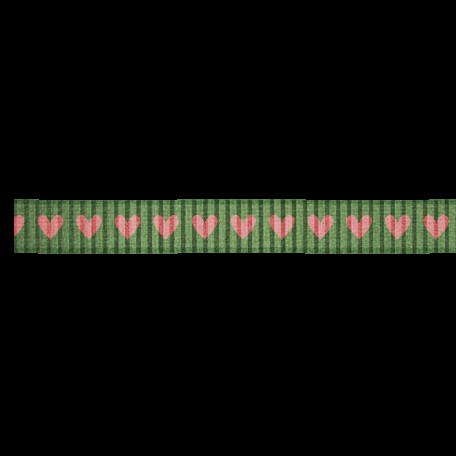 Olive Hearts Ribbon