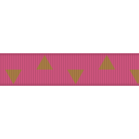 Egypt Ribbon - Pink & Brown Triangles