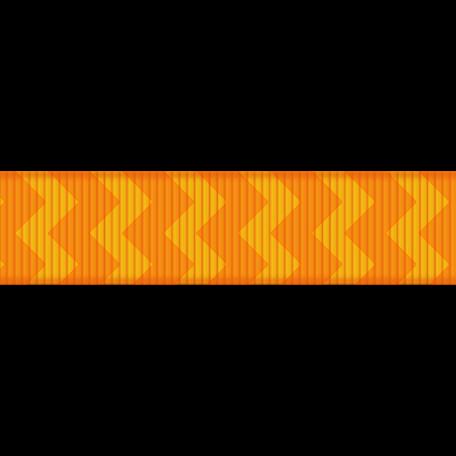 Medium Ribbon - Chevron - Orange