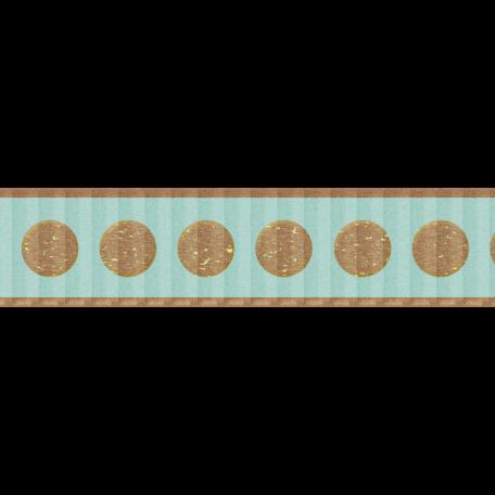 Teal & Brown Polka Dot Ribbon