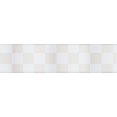 Fat Ribbon - Checked - White