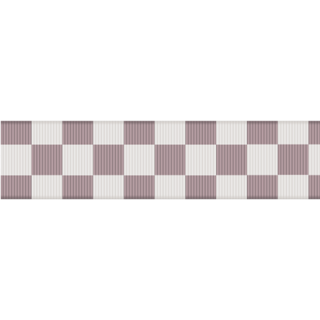 Fat Ribbon - Checked - Gray & White