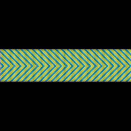 Fat Ribbon - Chevron 01 - Blue & Green