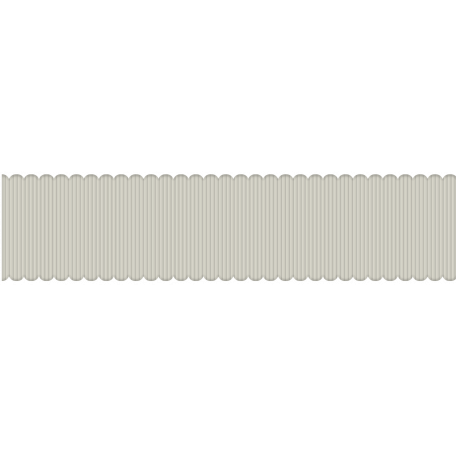 White Scalloped Ribbon