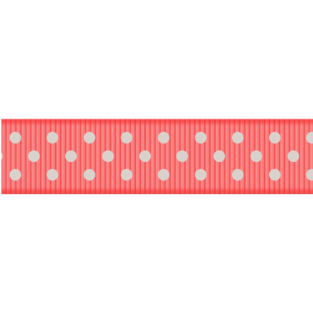 Medium Ribbon - Polka Dots 01 - Pink & Mint