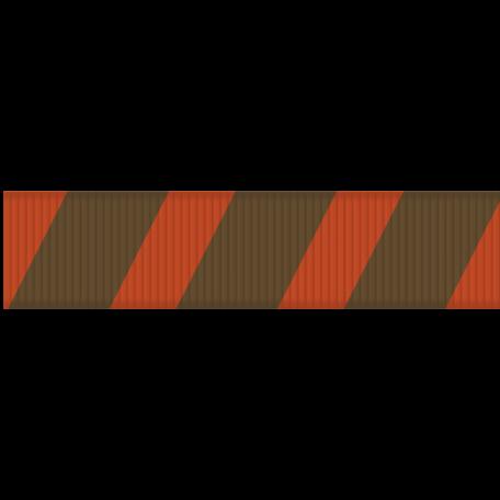 Medium Ribbon - Stripes 01 - Red & Brown