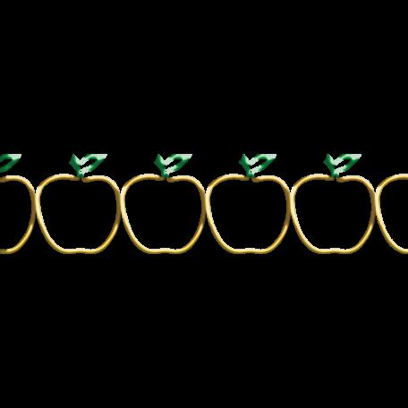 It's Elementary, My Dear - Wire Apple Border