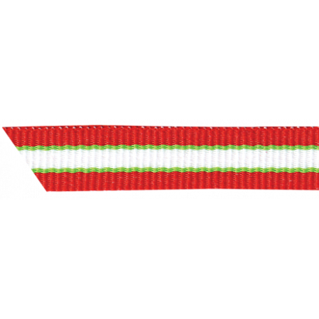 Christmas Memories Striped Ribbon - Red & Green