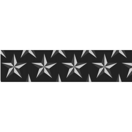 Fat Ribbon Template - Stars 02
