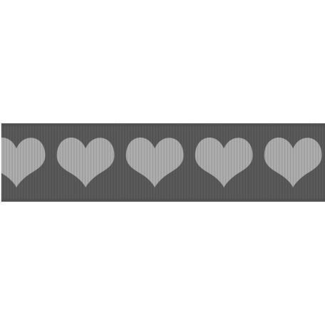 Fat Ribbon Template - Hearts 01