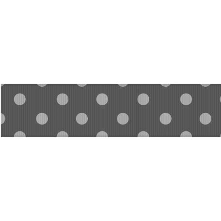 Fat Ribbon Template - Polka Dots 03