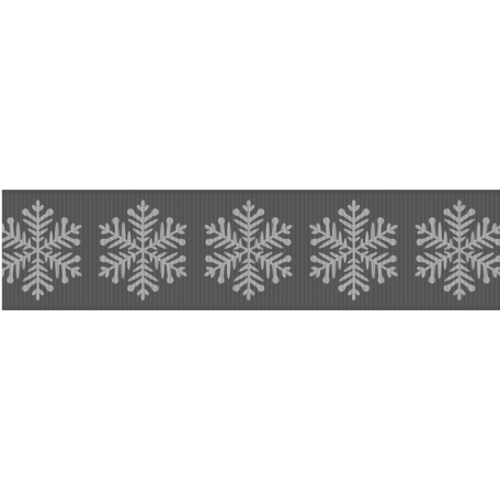 Fat Ribbon Template - Snowflakes