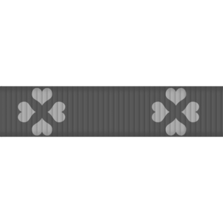 Thin Ribbon Template - Hearts 01