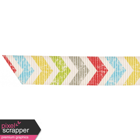 Lil Monster - Colorful Chevron Ribbon