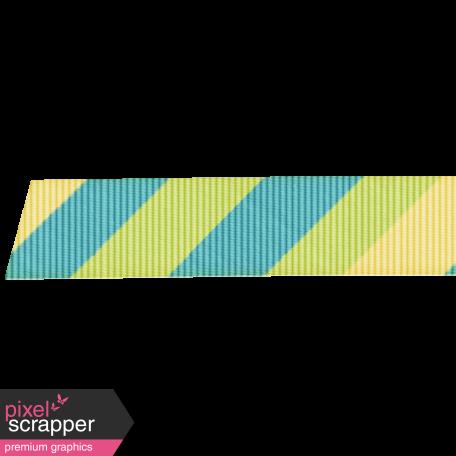 Rain, Rain - Diagonal Striped Ribbon