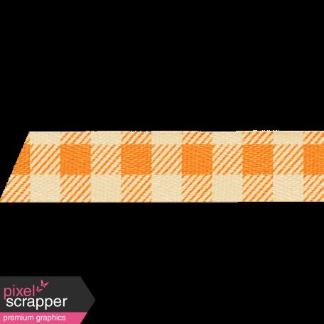 School Fun - Orange Gingham Ribbon