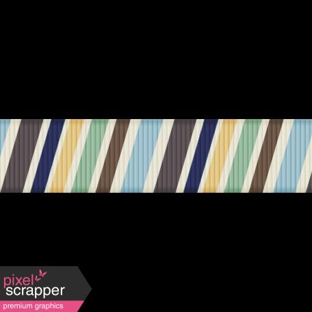 DSF Aug 2013 Blog Train Mini Kit - Striped Ribbon